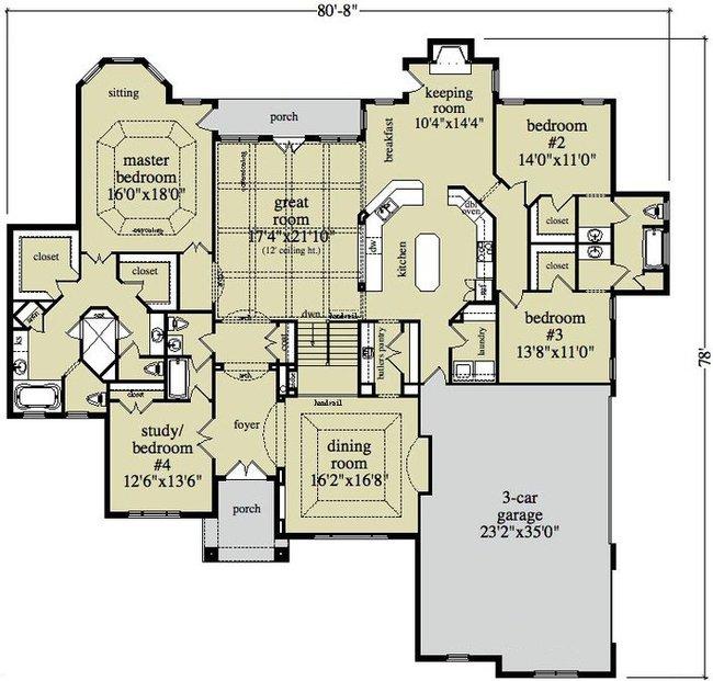 floor plan, Grundriss, Hauskauf USA